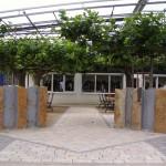 Außenanlage, Gastronomieterrasse des Restaurants Andres