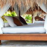 Idee: ein Bett im Garten