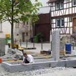 Umgestaltung des Dorfplatzes in Bensheim Gronau, 2002, Planung AMB