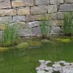 Trockenmauer um einen Teich