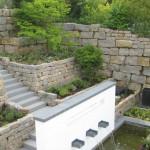Die einzelnen Terrassen - hier noch nicht eingewachsen