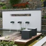 3-fach-Brunnen als Garten-Raumteiler