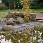Ländlicher Wassergarten